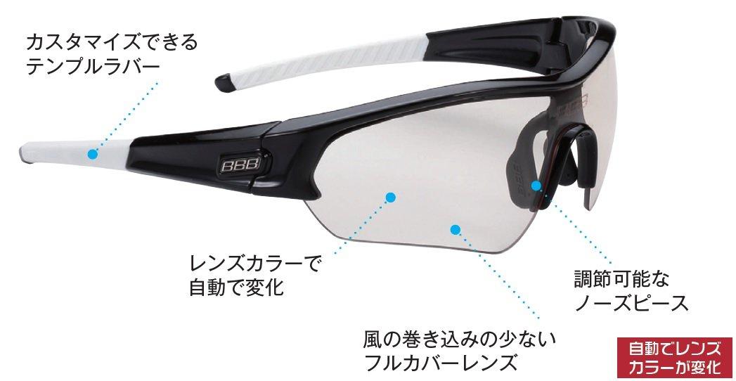 BBB Select PH BSG-43 881254389 Unisex Sports Glasses Glossy Black