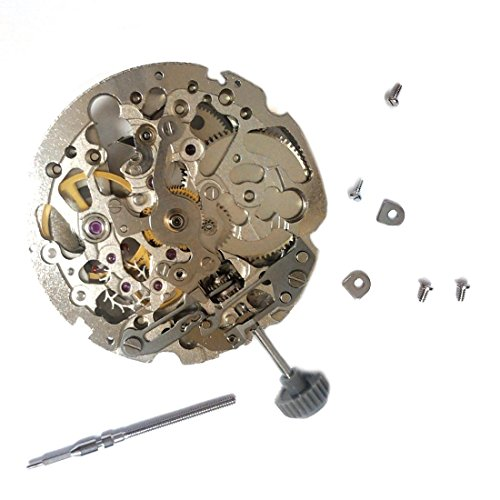 Jewel Movement (Miyota 8N24 Automatic Mechanical Skeleton Movement 21 Jewels Japan Made)