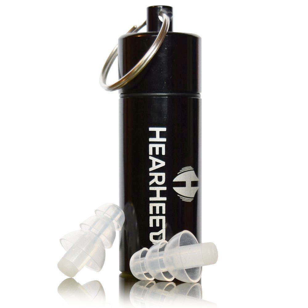 Hearheed High Fidelity Ear Plugs Noise Reduction - Hearing Protection Earplugs for Concerts Loud Live Music and More - DJs Clubbers Motorcycle Riding Construction Work Travel Flying Pressure Earplugs by Hearheed (Image #2)