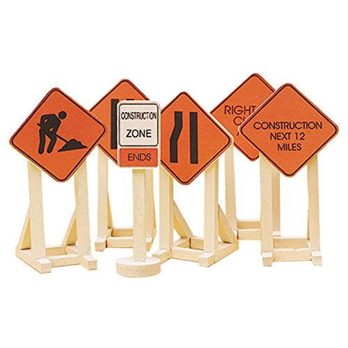 Highway Construction Signs - Lionel Orange Construction Zone Signs