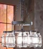 Jar Chandelier Country Decor Wrought Iron Hanging Chain Decoration (8 Jar Chandelier)