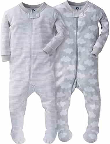 Gerber Baby Boys' 2 Pack Footed Sleeper