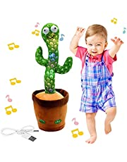"""Dancing Cactus Toy,Shaking, Recording, Singing, Talking toys, """"Repeat your speech"""" Plush Stuffed Gift For Toddler, Baby, Kids…"""
