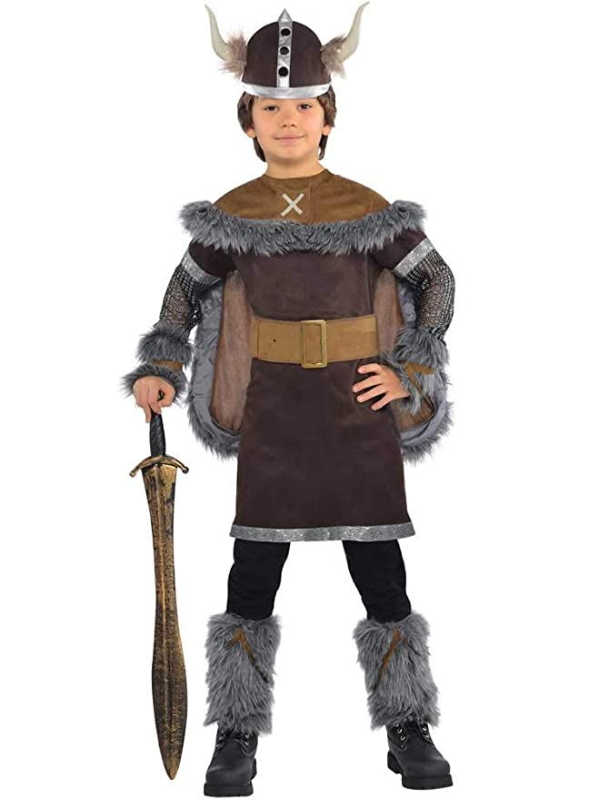Amscan International - Disfraz Viking Warrior para niños, 12-14 ...
