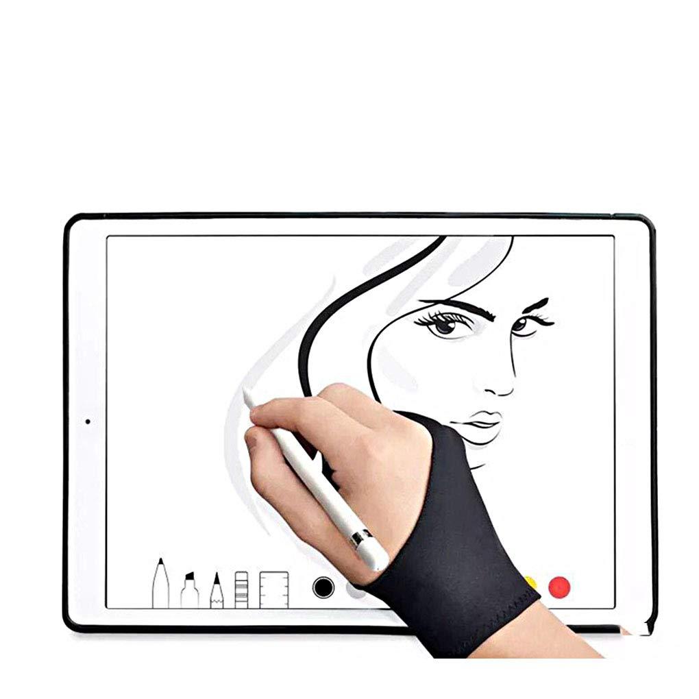 vkospy Black Gloves Antivegetativa Pittura Disegno Writting Grafica Digitale Tablet Pad sweatproof Mitten
