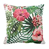 TYYC New Year Gifts for Home Garden Floral Pattern Printed Single Cushion Cover - 12x12 inches
