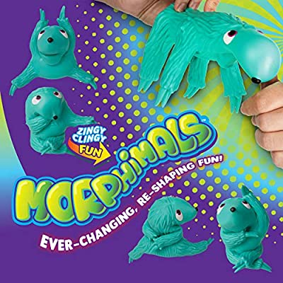 Orb Morphimals Teal Skulptysloth - Ultra-Sized Sensory Squeeze Toy: Toys & Games
