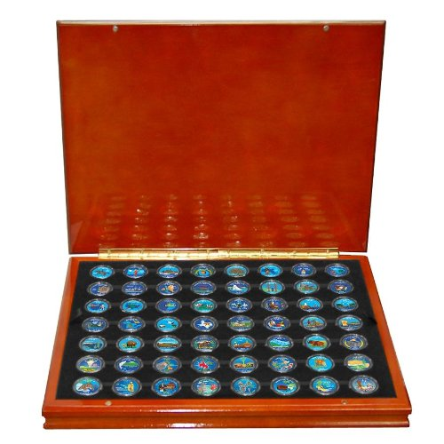 Complete Set of 56 Colorized State Quarters (Complete State Quarter Collection)