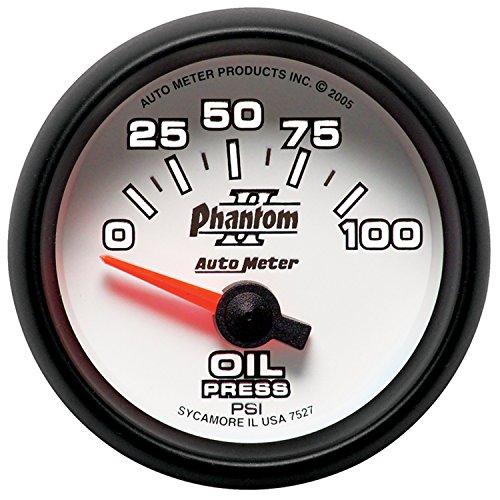 Phantom Electric Oil Pressure Gauge - Auto Meter 7527 Phantom II 2-1/16