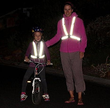 Chaleco de Seguridad Reflectante Ajustable Chaleco Reflectante Para Moto Bicicleta Correr Hacer Deportes en Exterior Para Fluorescente