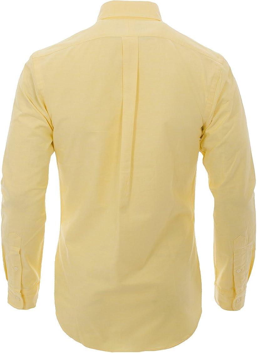 Ralph Lauren Slim Fit Oxford Camisas / Hombre / Azul Blanco Amarillo / SML XL XXL