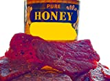 BEST Premium Slightly Sweet 4 OZ. Mild and Tender Honey Glazed Beef Steak Jerky from Colorado USA - Wood Smoked With Hickory Wood by Climax Jerky - Buy Multiple Packs and Save! (Beef Honey 1 Pack)