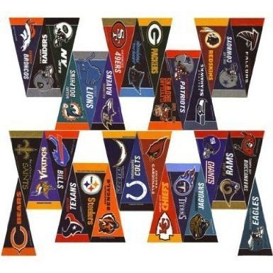 Rico Mini Pennant Set - NFL 32 Piece (Favors Year Of Ram Party The)