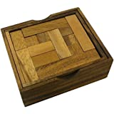 Solid Pentominoes Two Layer Wooden Brain Teaser Puzzle