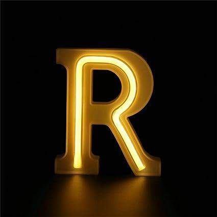 Amazon.com: Letras LED de alfabeto, con luz a batería ...