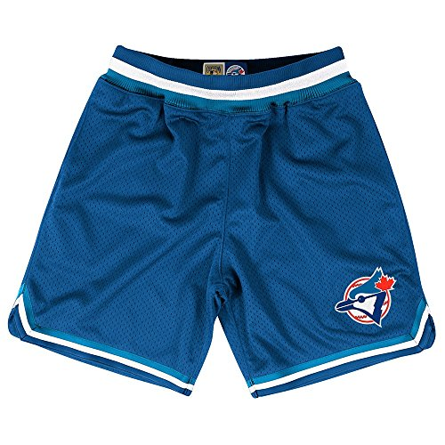 Toronto Blue Jays Mlb Mitchell   Ness Blue Authentic Playoff Win Throwback Shorts Shorts For Men  M