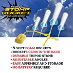 Stomp Rocket The Original Jr. Glow Rocket Launcher, 4 Foam Rockets and Toy Air Rocket Launcher – Glows in The Dark, STEM Gift for Boys and Girls Ages 3 Years and Up – Great for Year Round Play
