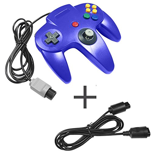 Joystick 12 Button (Gamepad Game Gaming Handle Controller Remote Pad Joystick Game For Nintendo 64 For N64 System Design Easy & Comfortable with 6ft long Replacement Extension Cable for Nintendo 64 N64 Controller)