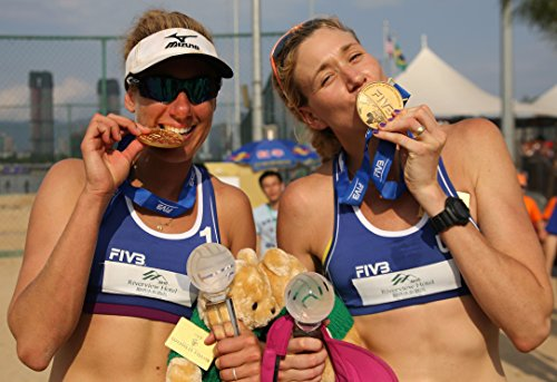 - April Ross and Kerri Walsh Jennings Sports Poster Photo Limited Print Sexy Celebrity USA Olympic Women's Beach Volleyball Athlete Size 22x28 #1