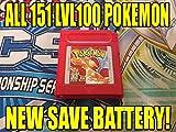 Unlocked Pokemon Red Version All 151 Pokemon Level 100 for Nintendo Gameboy Color GBC