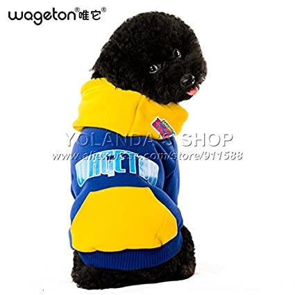 4663ef555bd6 Pinkdose® Navy Blue, L: New Wageton Designer Dog Clothes Wholesale and  Retail Pet Puppy Cat Coat Hoodie Sweater T-Shirt Costumes -4 Colors Apparel:  ...