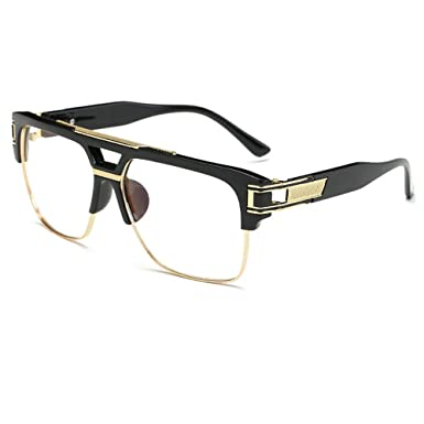 CVOO Newest Stylish Brand Square Frame Glasses Optical Male Large Clear Mens Designer Eyeglass Frames Black Men Spectacles yFsznqTq06