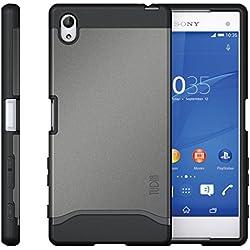 Xperia Z5 Premium Case, TUDIA Slim-Fit MERGE Dual Layer Protective Case for Sony Xperia Z5 Premium (Metallic Slate)