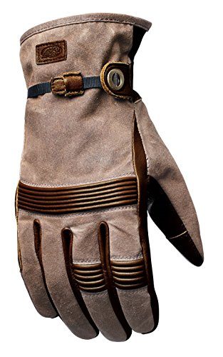 Roland Sands Design Truman Waxed Cotton/Leather Ranger Brown Glove Large (More Size Options) ()