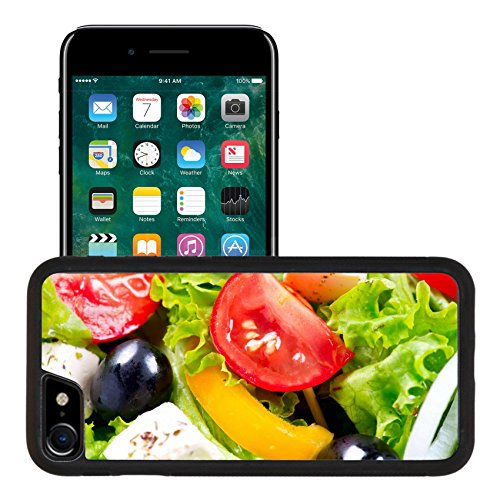 Liili Apple iPhone 7 iPhone 8 Aluminum Backplate Bumper Snap iphone7/8 Case iPhone6 ID: 26390598 Greek Salad closeup with Feta Cheese Tomatoes and Olives