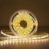 Ulinek LED Strip Rope Lights, 5M SMD 5050 Warm White String Lights with High Density 300 LEDs for Home Kitchen Cabinet Ceiling Wall TV Lighting Decoration