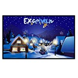 Excelvan Indoor Outdoor Portable Movie Screen 120 Inch 16:9 Home Cinema Projector Screen Roll Easily, PVC Fabric