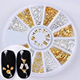 1 Box Matte Rivet Stud Gold Silver Waterdrop Rhombus Square Round 3D Manicure Nail Art Decoration