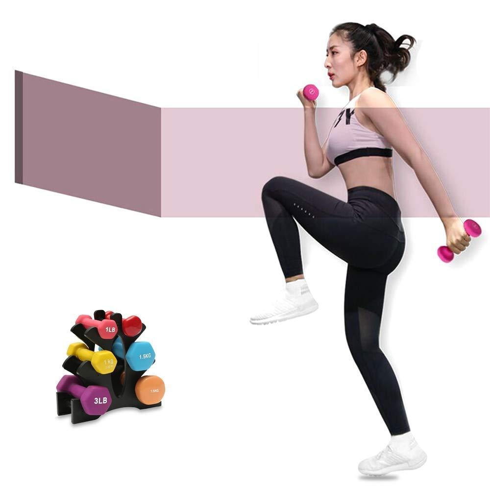 TAOVK Dumbbells Rack Bracket Holder for Household for Fitness Home PVC Small Women Men Crossfit Body Building Exercise Equipment