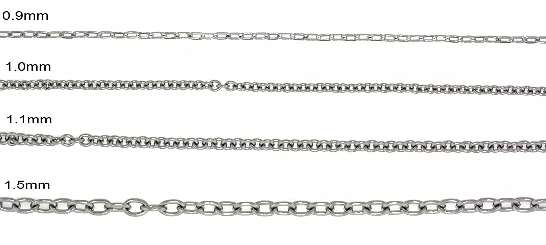 SilverCloseOut Stainless Steel 1.0MM Cable Chain - (16