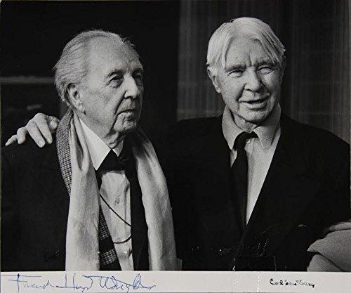 [Literature & Art] Wright, Frank Lloyd. (1867-1959) & Sandburg, Carl. (1878-1967): Signed Photograph ()