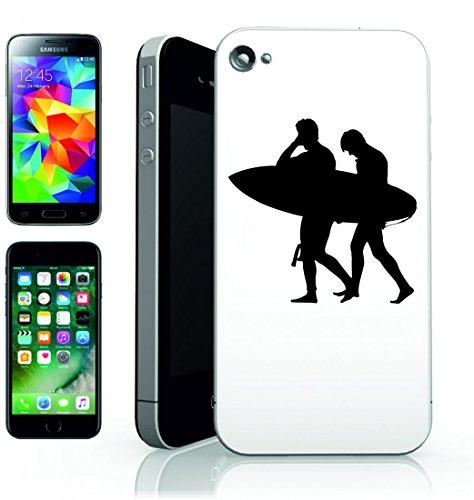 Smartphone Case ragazzo-maschio uomo di persone silhouette della persona umana Surfer della Spiaggia di Acqua della tavola di Navigare per Apple Iphone 4/4S, 5/5S, 5C, 6/6S, 7& Samsung Galaxy S4,