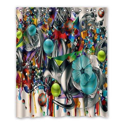 Dalliy Graffiti disfraz cortina de la ducha Shower Curtain 152 cm ...