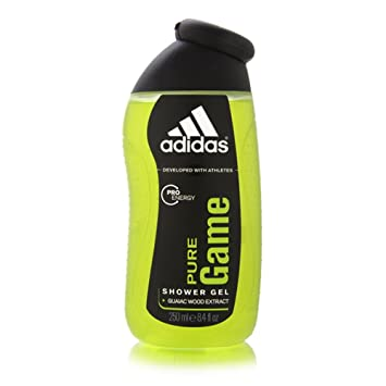 buy cheap f16e1 e3ce6 Amazon.com   Adidas Pure Game by Coty for Men 250ml 8.4oz Shower Gel with  Guaiac Wood Extract   Bath And Shower Gels   Beauty