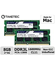 Timetec Hynix IC DDR3L 1600MHz PC3L-12800 SODIMM Memory Upgrade for MacBook Pro 13-inch/15-inch Mid 2012, iMac 21.5-inch Late 2012/Early 2013 (8GB Kit (2x4GB))