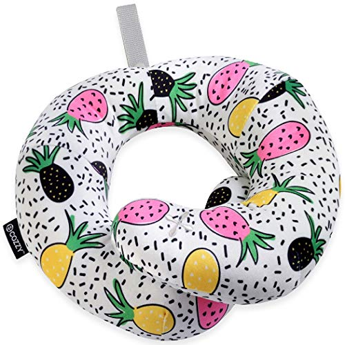- BCOZZY Kids Chin Supporting Patented Travel Pillow - Keeps The Child's Head from Bobbing up and Down in car Rides, Providing Comfort and Support for The Neck and Head. Child Size (Trendy Pineapple)