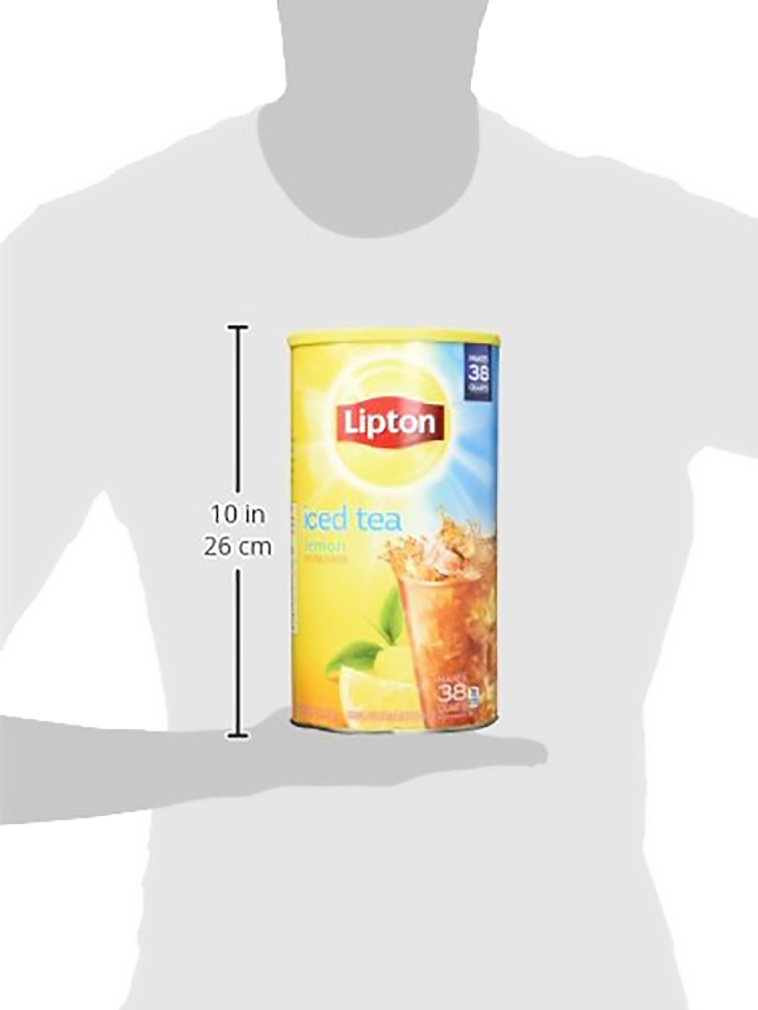 Lipton Iced Tea Mix, Lemon 38 qt - Pack of 10 by  (Image #3)