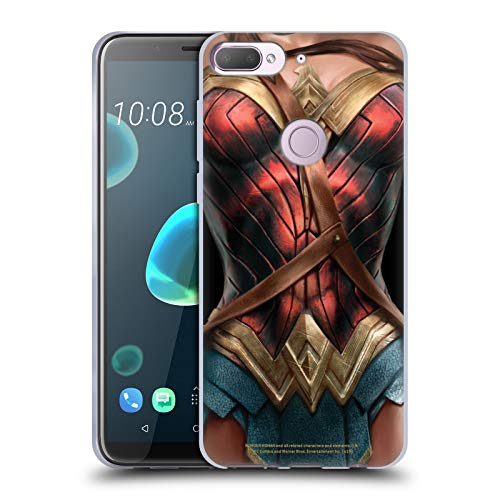 Official Wonder Woman Movie Costume Character Art Soft Gel Case Compatible for HTC Desire 12 Plus]()