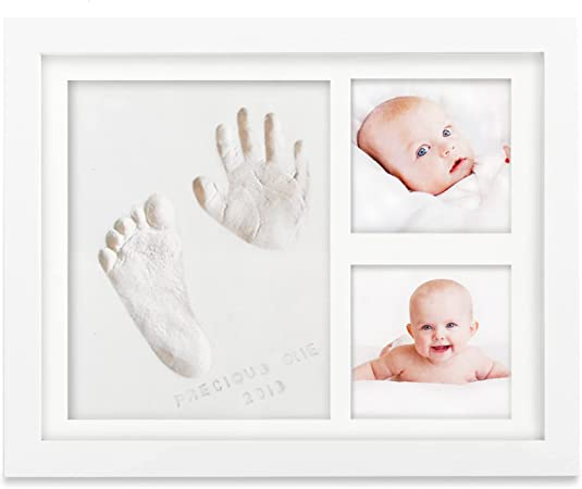 30 x 36 x 2 cm Unique Baby Shower Gifts for Registry Baby Handprint Kit /& Footprint Photo Wood Frame Clay Set for Newborn Girls and Boys #11 Memorable Keepsake Box Decorations