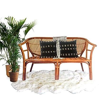 Wondrous Amazon Com Vintage Bamboo Settee Bamboo Rattan Loveseat Interior Design Ideas Apansoteloinfo
