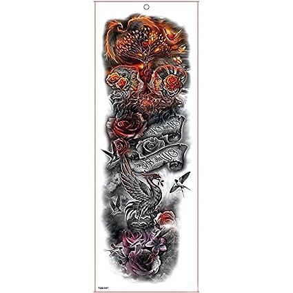 Etiqueta engomada del tatuaje a prueba de agua Brazo grande Manga ...