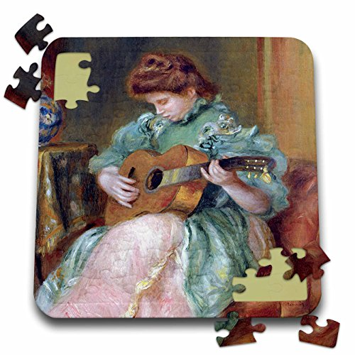 (BLN Music Featured in Fine Art Collection - Femme a la Guitare 1896 by Pierre Auguste Renoir Woman Playing Guitar - 10x10 Inch Puzzle (pzl_171351_2))