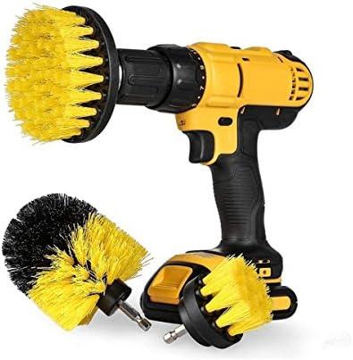 電動掃除用ブラシ - Delaman クリーニングブラシ、電気ドリル用 、キッチン、バスルーム、タイヤ、カーペット、クリーナーセット、3種類のブラシ
