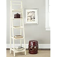 Safavieh Chester Distressed Ivory Leaning Tall Etagere