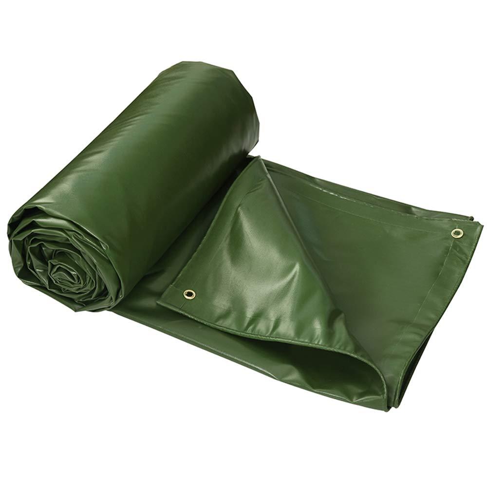 グリーン0.6 mm PVCターポリン、550 g/m 2、屋外凍結防止断熱ターポリン、トラック用レインオーニングターポリン、両面防水、引き裂き防止ターポリン 3*3m  B07QSQNNT2