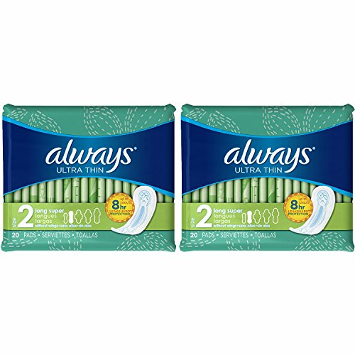Always Ultra Thin Long Super Pads, 20 Count, (Pack of - Guy Picture Ok Black